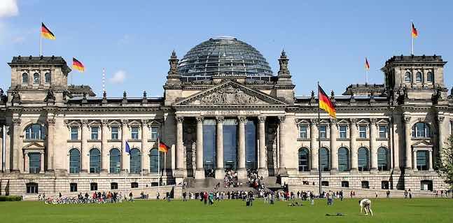 du lịch berlin toà nhà reichstag