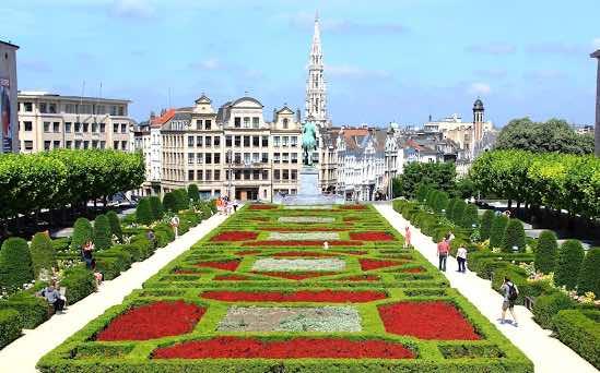 Mont des Arts garden địa điểm du lịch ở brussels