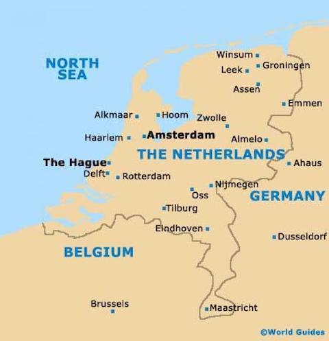 bản đồ du lịch hà lan amsterdam