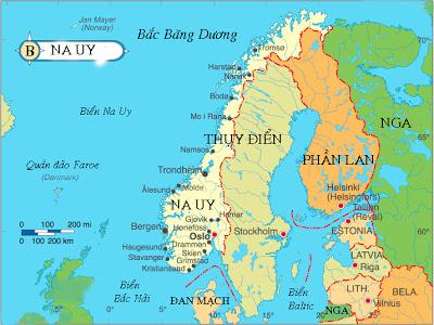 bản đồ nước na uy là nơi đáng sống nhất thế giới