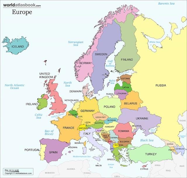 bản đồ châu âu và du lịch riga latvia