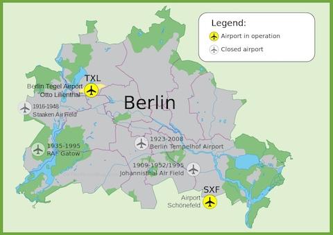 Bản đồ du lịch Berlin- sân bay berlin