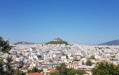 toàn cảnh thành phố du lịch Athens Hy lạp
