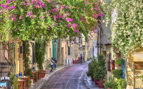 Khu phố cổ plaka du lịch athens hy lạp