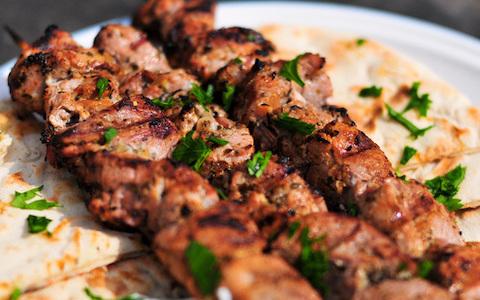 Thịt nướng - ẩm thực Hy lạp