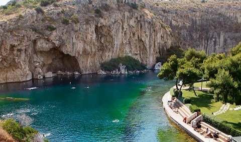 Hồ Vouliagmeni du lịch athens hy lạp