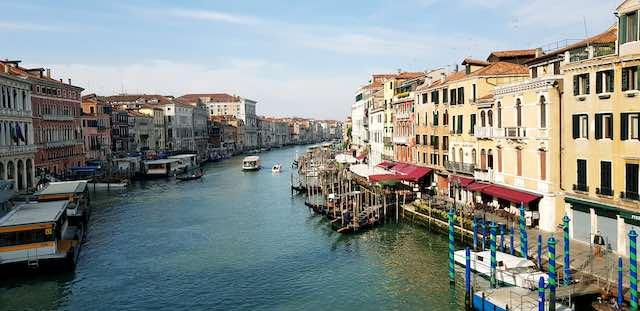 kênh đào Grand canal- địa điểm du lịch venice italy