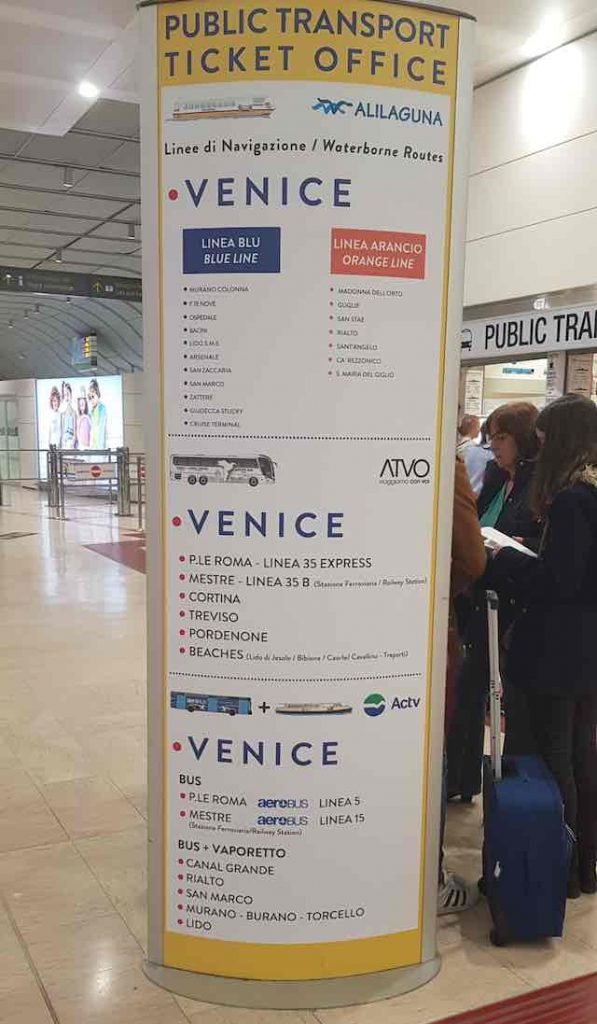 Thông tin phương tiện công cộng khi du lịch venice Ý