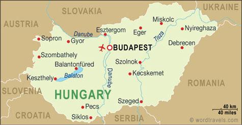 Bản đồ du lịch Budapest Hungary