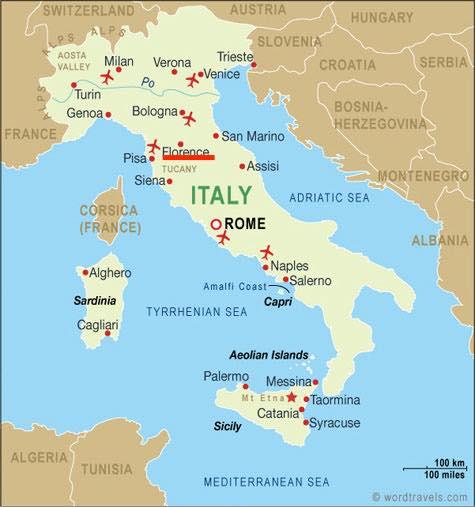 Bản đồ du lịch Florence Ý