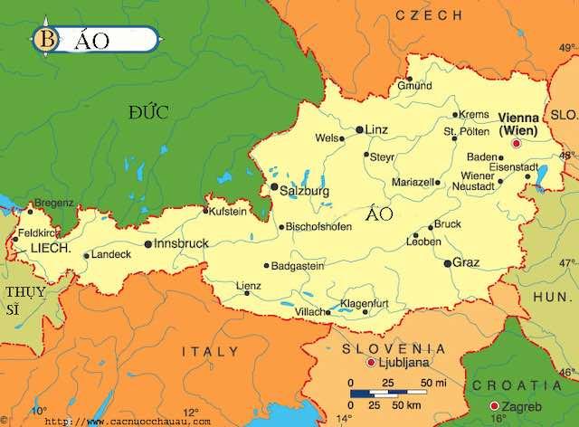 Bản đồ du lịch nước Áo