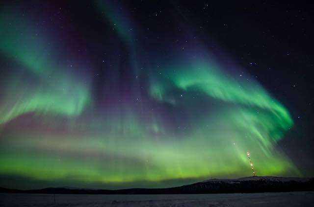 săn cực quang tại  Lapland
