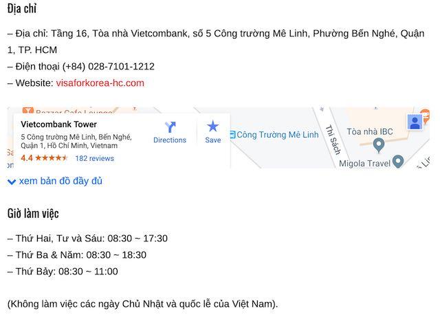 Trung tâm Đăng ký visa Hàn quốc KVAC tại TP. HCM