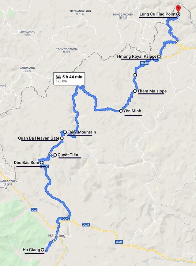 Ha giang motorbike loop 2 days itinerary day 1