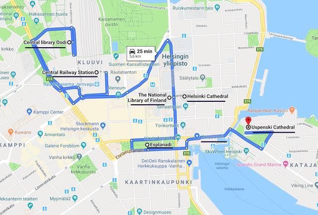 Helsinki itinerary day 1