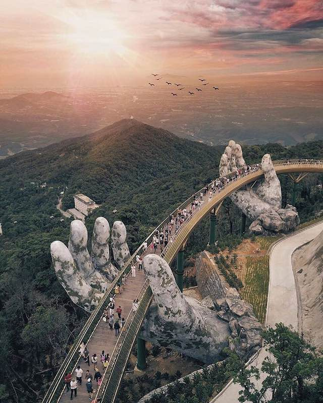 golden bridge in Da nang- one of the most beautiful places in Vietnam