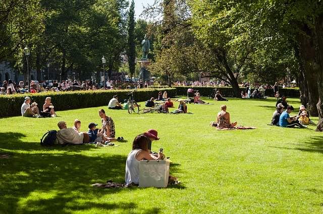 Esplanade park in helsinki travel