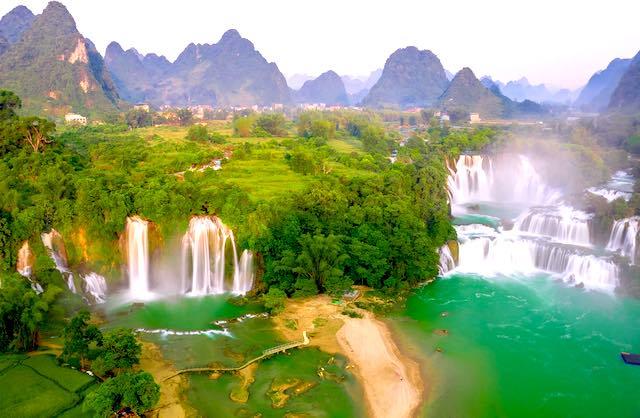 Ban gioc waterfall cao bang vietnam in September