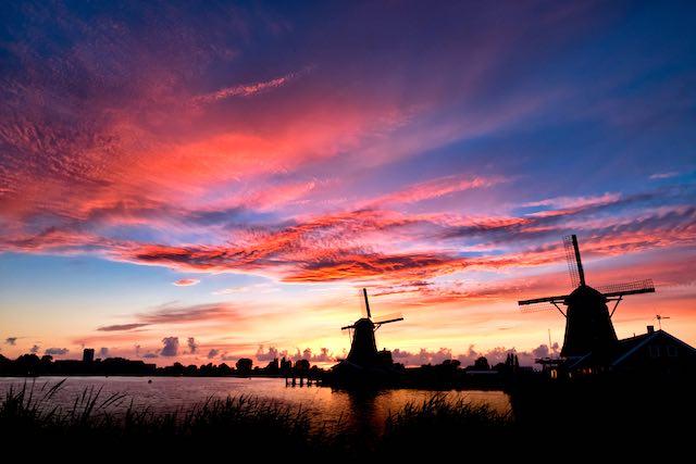 làng cối xay gió hà lan