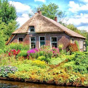 làng cổ giethoorn Hà Lan